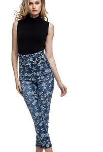 Jeans Fiori Stampa Guess Alta Vita Donna W63a08d2970 25 Ebay Tg rwUtrIqT
