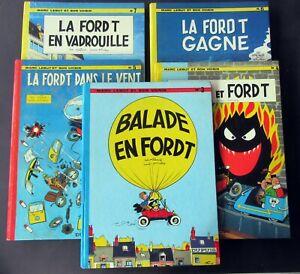 MARC-LEBUT-LA-FORD-T-TILLIEUX-FRANCIS-DUPUIS-5-ALBUMS-EN-EO-ET-EN-TBE