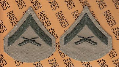USMC MARINE CORPS LANCE CORPORAL LCPL E-3 rank patch set FEMALE