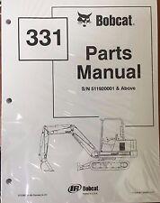 Bobcat 331 Series Parts Catalog Manual - Part Number # 6722867