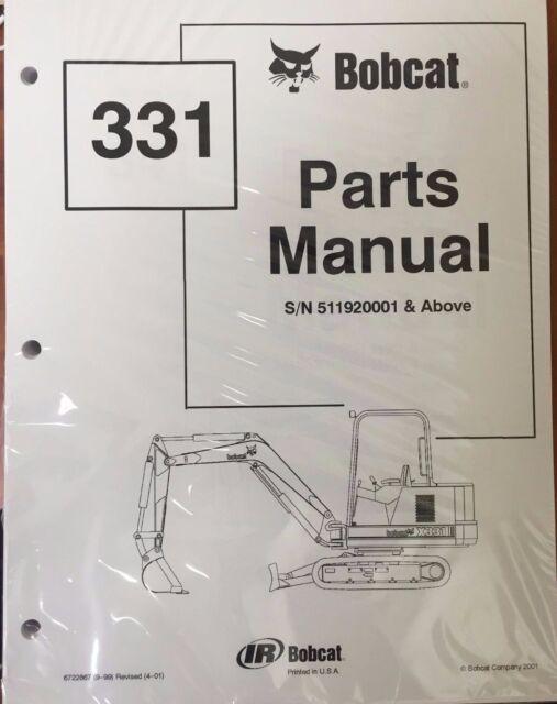 Bobcat Parts Online >> Bobcat 331 Series Parts Catalog Manual Part Number 6722867