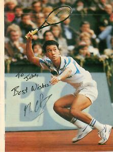 Original Michael Chang Autograph Magazine Photograph Tennis Player