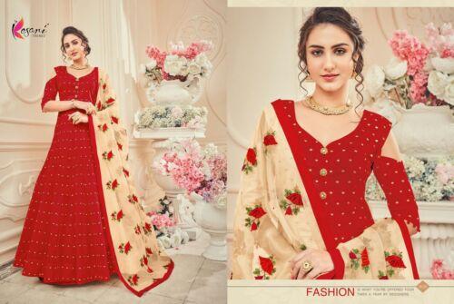Women INDIAN Pakistani Designer Embroidery georjette Tunic semi stiched Kurti