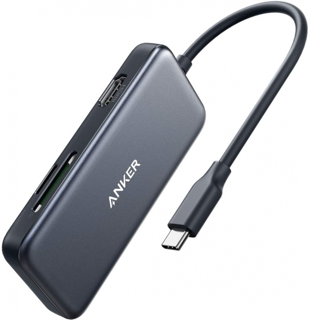 Anker USB C Hub, 5-in-1 C Adapter, with 4K C to HDMI, SD and microSD...