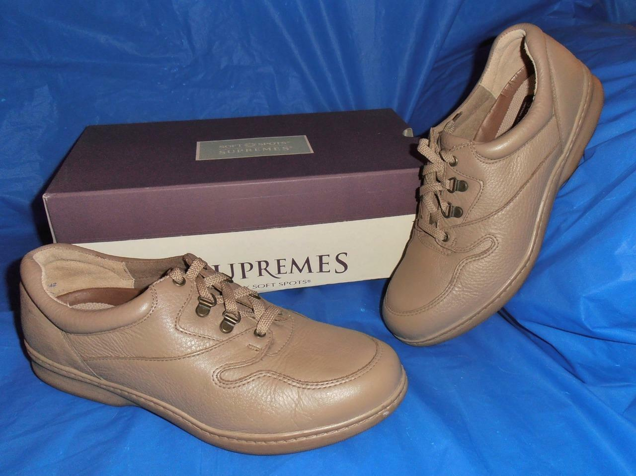 Soft Spots Spots Spots Supremes, Soft Taupe Leather, Women's  Size 11 W ....New Old Stock 04f335
