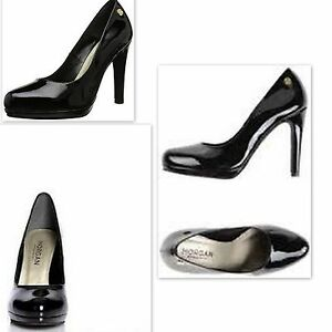 LUXUS-NEU-MARKEN-DESIGN-Pumps-Morgan-Bril-Schwarz-HIGH-HEEL-Groesse-39-NP-89