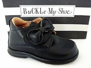 BUCKLE-MY-SHOE-YING-INFANT-GIRLS-DARK-NAVY-LEATHER-CASUAL-ANKLE-SHOES-UK-5-EU-22