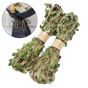 10-m-feuilles-naturel-de-Hesse-jute-Ficelle-Corde-Jute-Ruban-A-faire-soi-meme-Craft-Party-Decor-New