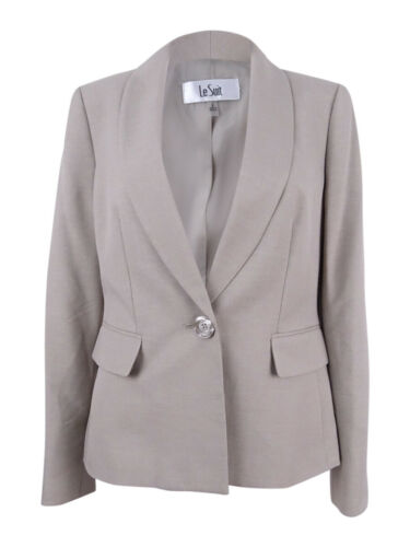 Le Suit Women's SingleButton Jacket 4, Summer Straw