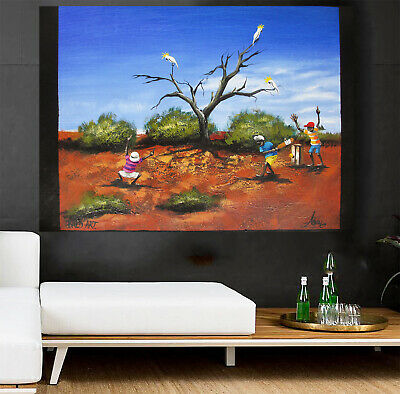 100cm Andy Baker Australia Tropical Palm Tree Island Art Painting Canvas print