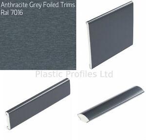 Image is loading GREY-ANTHRACITE-PLASTIC-WINDOW-TRIMS-UPVC-BEADING-VARIOUS-  sc 1 st  eBay & GREY ANTHRACITE PLASTIC WINDOW TRIMS UPVC BEADING VARIOUS SHAPES 5m ...