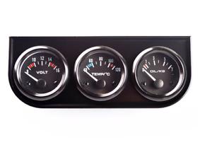 Universal-3-In1-12V-Coche-Temperatura-Del-Agua-Calibre-triple-voltios-Kit-de-presion-de-aceite-coche