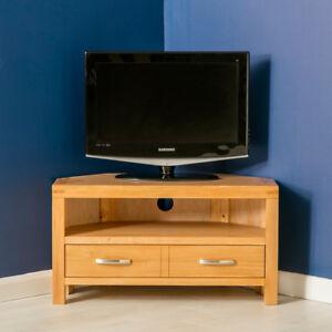 Abbey Light Oak Corner Tv Stand Modern Oak Tv Cabinet Solid Wood