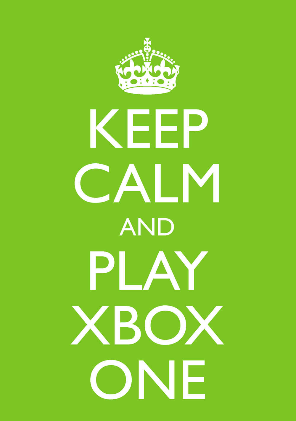 """Details about """"Keep Calm and Play Xbox One"""" Blank Greetings Birthday Card-  A8 Green"""