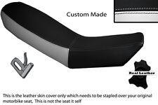 WHITE & BLACK CUSTOM FITS KTM ADVENTURE 990 950 DUAL LEATHER SEAT COVER