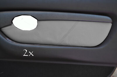FITS MG TF MK2 00-06 2 x DOOR CARD COVERS LEATHER mid grey