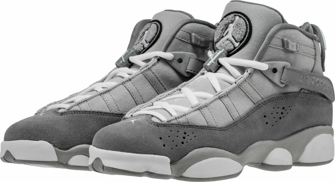 KID'S   GRADE SCHOOL JORDAN 6 RINGS 323419 - 014 (COOL GREY) ASST. SIZES NIB