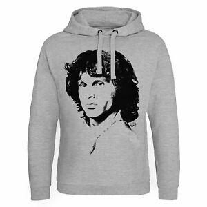 Jim Morrison ufficiale Grey con di cappuccio xxl Heather Taglie Felpa epica licenza S con wUqXaI