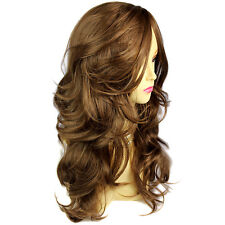 Wiwigs Wonderful Long Light Cocoa Brown Wavy Skin Top Heat Resistant Ladies Wig