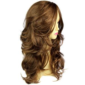 Wonderful-wavy-Long-Light-Brown-Curly-Cocoa-Ladies-Wigs-skin-top-Hair-WIWIGS-UK