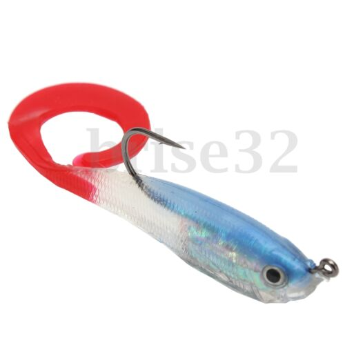 5pcs Soft Silicone Lures Fishing Lure Bass Plastic Bait Tackle JIG Hooks 10cm