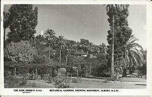 BOTANICAL GARDENS SHOWING MONUMENT ALBURY NSW PHOTO POSTCARD
