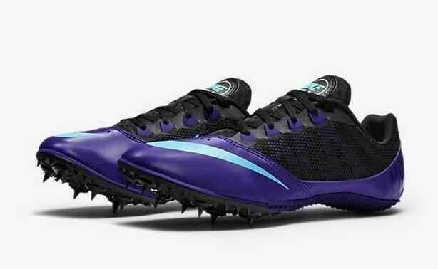 NIKE ZOOM RIVAL S 7 VII Track Field Spikes Cleats shoes Black Purple SIZE 11