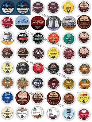 K-Cup Custom Variety PACKS, 16-64 Coffee And Tea K CUPS Sampler For Keurig