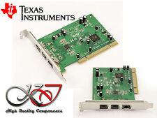 Carte PCI FIREWIRE 800 et 400 IEEE1394A 1394B - TEXAS INSTRUMENT TI SN082AA2