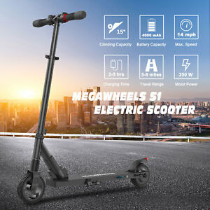 Megawheels-Folding-Electric-Scooter-250W-Aluminum-Portable-Black-Kick-E-Scooter