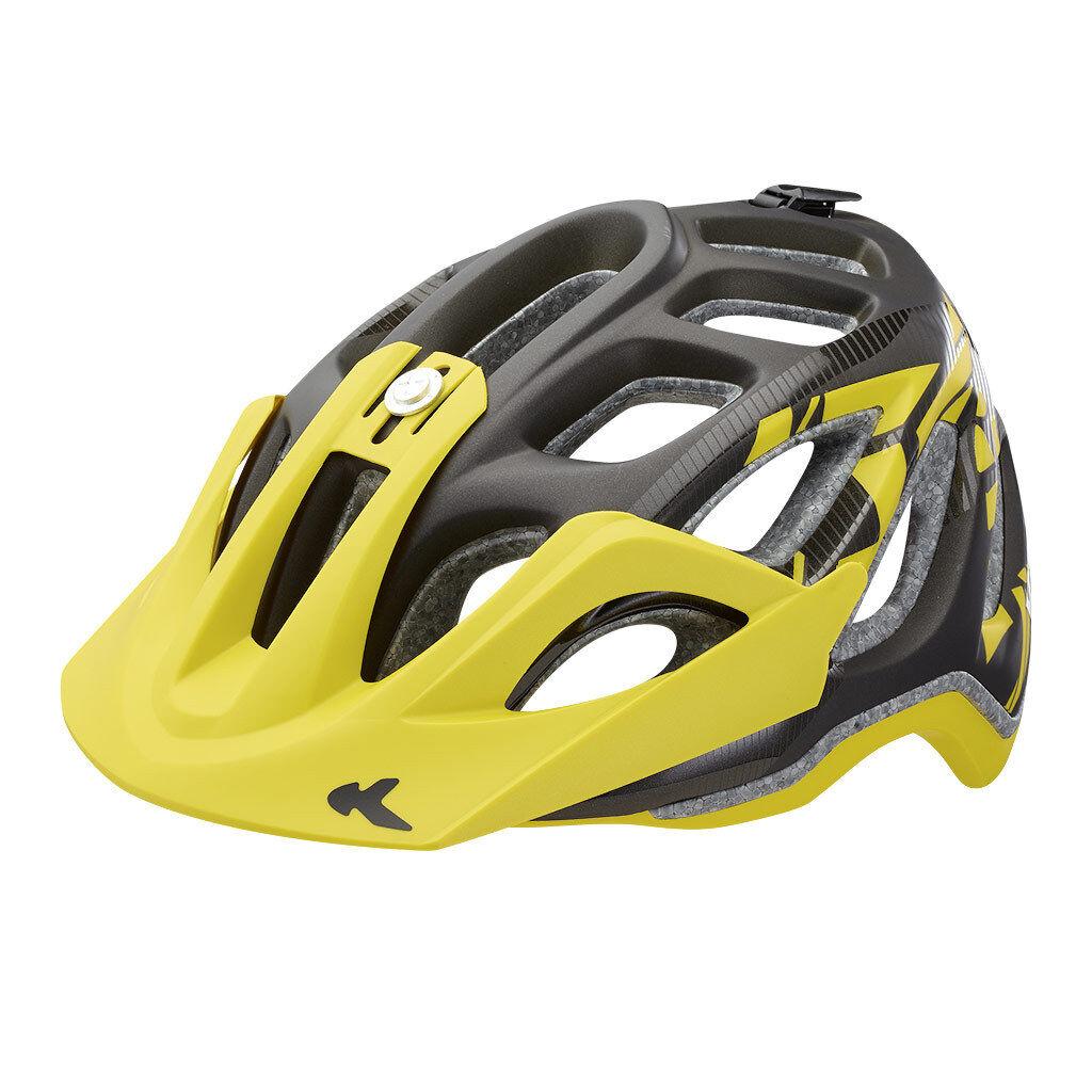 KED  Trailon  schwarz schwarz schwarz Gelb Matt  Größe M  52-58 cm  Fahrradhelm 2016 c9d7b9