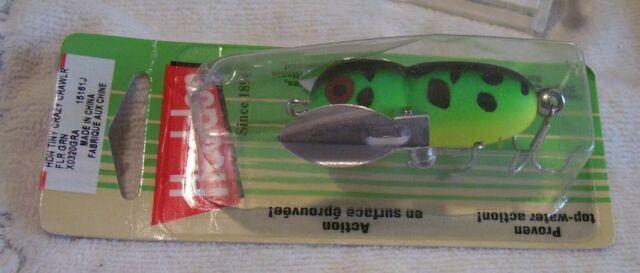 "Heddon X0320gra 1 3//4/"" Tiny Crazy Crawler 1//4oz Topwater in Flo Green Crawdad for sale online"