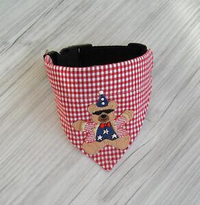 Halsband-verstellbar-Halsumfang-30-34-cm-Hundetuch-Hundehalstuch-Hundebekleidung
