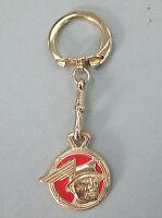 Vintage Mercury Messenger Man Yellow Gold Key Ring 1939 1940 1941 1942 1943 1944