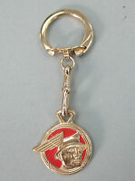 Vintage Mercury Messenger Man Yellow Gold Key Ring 1939 1940 1941 1942 1943 1944