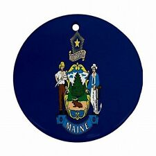 Maine State Flag Portland Lobster Souvenir Christmas Tree Ornament Ornaments New