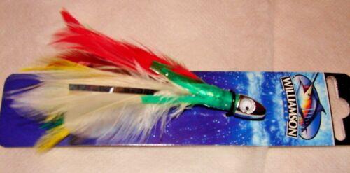 Mahi,Dolphin,Wahoo Trolling Big Game Bait FISHING LURE Red Green 3 Tuna Feather