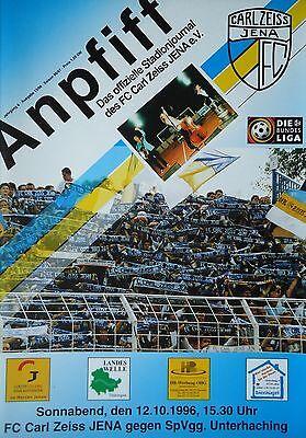 Programm 1996//97 FC Carl Zeiss Jena FSV Mainz