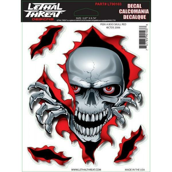 LETHAL THREAT Motorcycle Bike Board Car Scooter Decal Helmet Sticker LT55054