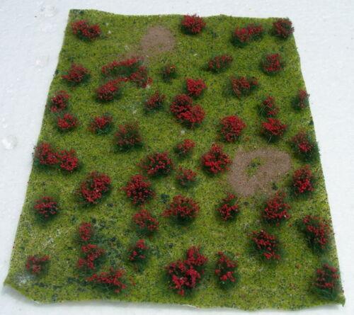 """JTT SCENERY 95604 FLOWERING MEADOW LANDSCAPING SHEET  RED  5/"""" X 7/""""   JTT95604"""