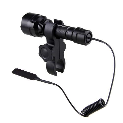 350 Yard Red LED Hunting Torch Hog Night Predator Flashlight Rife Gun Mount Lamp