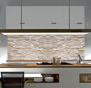 Küchenrückwand SteinWand SP674 Acrylglas Spritzschutz Herd ...