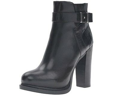 Women's Nine West Ankle Boots - Sherbert - Black Leather - New!!!