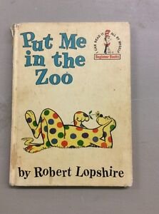 Vintage Dr Suess Book Club Edition 1960 Put Me In The Zoo Children