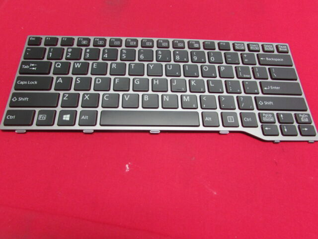 Original New for Fujitsu Lifebook T725 CP691163-XX CP672972 US Black Keyboard