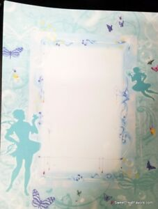 Fairies-Paper-Printing-DYI-Invitations-Paper-7-PC-Scrapping-Book-blue-Tinkerbell