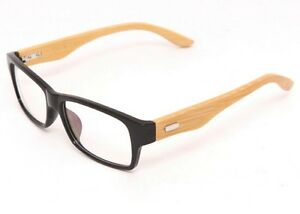 Men s European Eyeglass Frames : Mens Handmade Wooden Rectangular Eyeglasses Glasses Frames ...