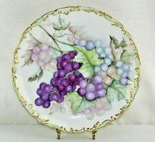 Antique T&V Limoges France Grapes Porcelain Charger Plate 1892-1907