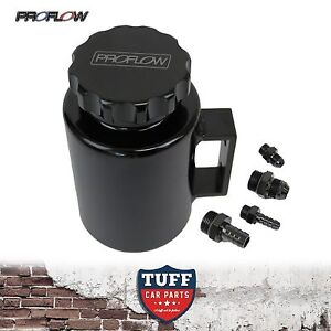 Proflow-Black-Billet-Aluminium-Power-Steering-Reservoir-Bottle-Tank-amp-Cap-New
