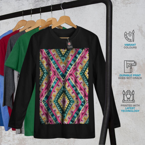DESIGN GRAFICA COLORATA Wellcoda Psichedelica modello da uomo manica lunga T-shirt